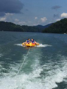 Tubing on Lake Fontana Family Fun Great Smoky Mountains
